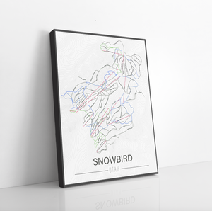 Snowbird Utah Ski Run Trail Map
