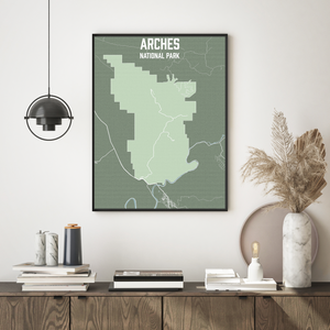 Arches National Park Map Print