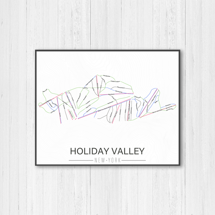 Holiday Valley New York Ski Trail Map