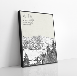 Alta Ski Resort | Hanging Canvas of Alta | Printed Marketplace
