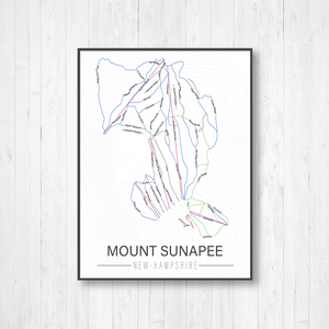 Mount Sunapee New Hampshire Ski Trail Map Print