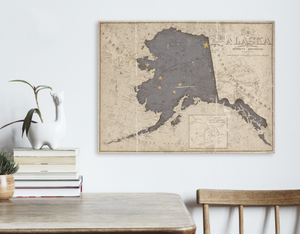 Alaska State Map and Flag Conversion Print