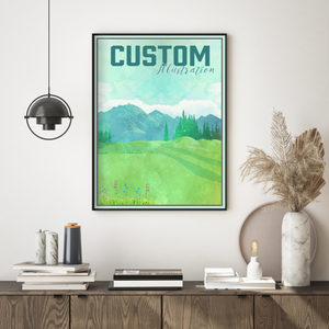 Custom Watercolor Illustration Print
