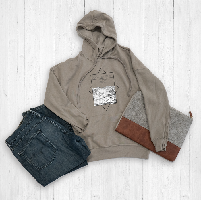 Silvretta Arena Ski Resort Rectangle Graphic Tee Shirt or Hoodie