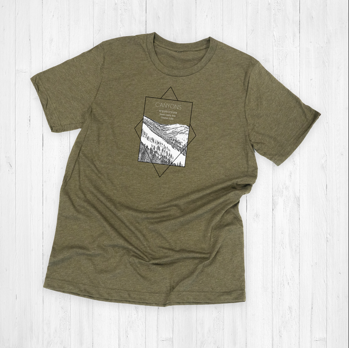 Canyons Ski Resort Rectangle Graphic Tee Shirt or Hoodie