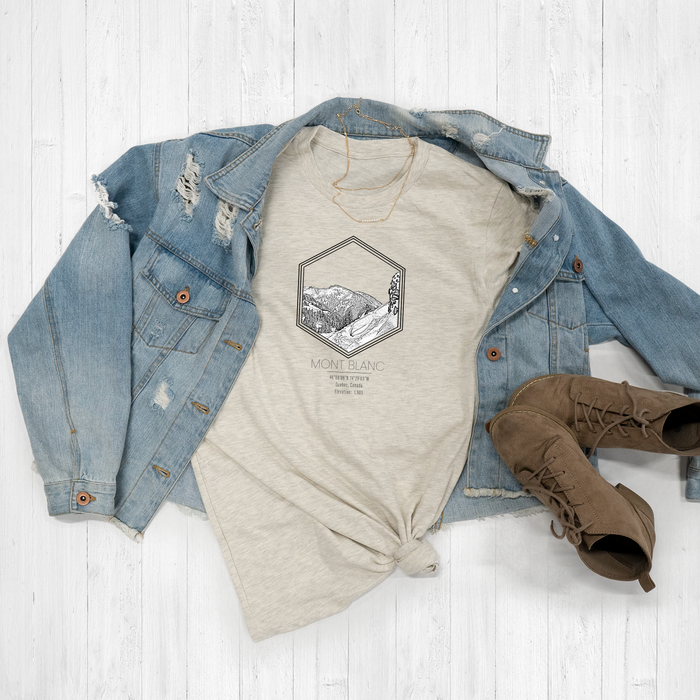 Mont Blanc Ski Resort Hexagon Graphic Tee Shirt or Hoodie