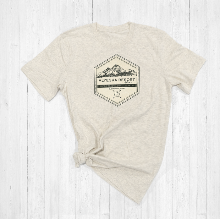 Alyeska Ski Badge Tee Shirt or Hoodie