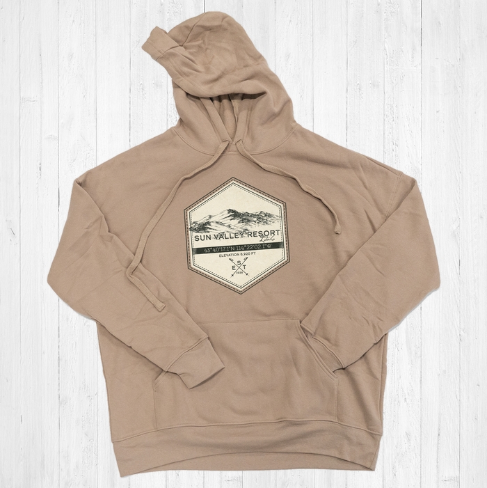 Sun Valley Ski Badge Tee Shirt or Hoodie