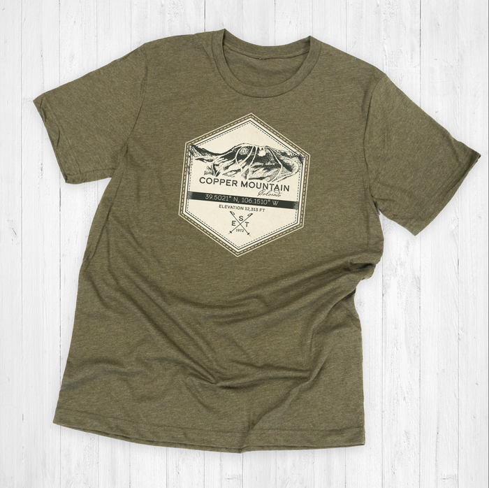 Copper Mountain Badge Tee Shirt or Hoodie