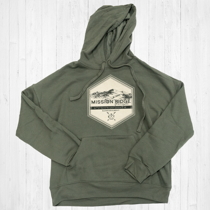 Mission Ridge Ski Badge Tee Shirt or Hoodie