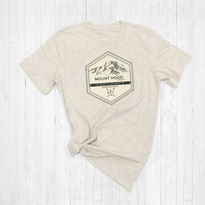 Mount Hood Ski Badge Tee Shirt or Hoodie
