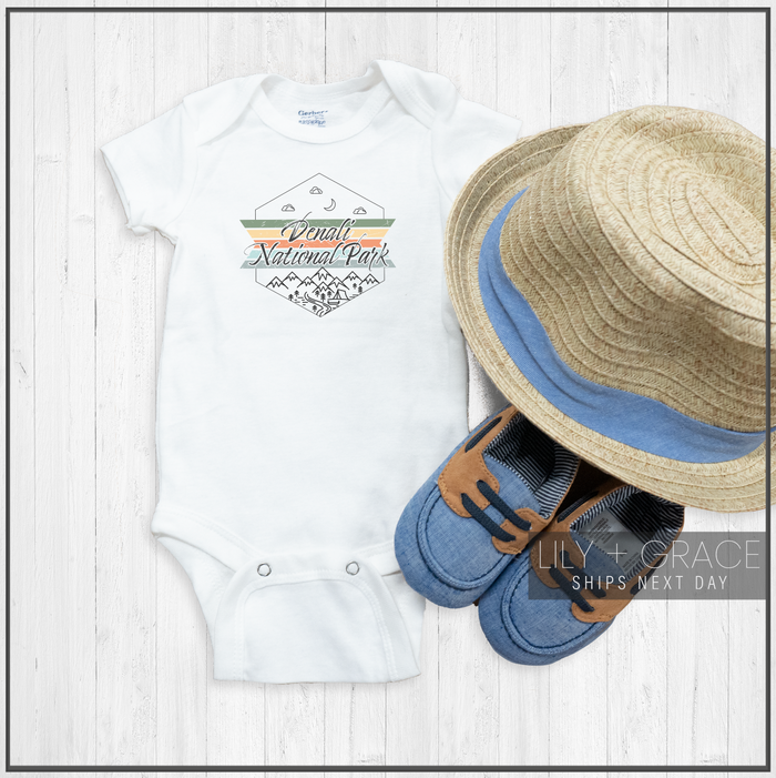 Denali National Park Onesie® | Travel Baby Clothing | Children's Apparel