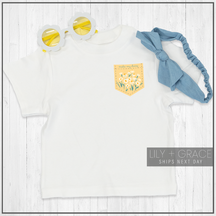 Make My Daisy Pocket Print Onesie® | Baby Bodysuit | Children's T-Shirt