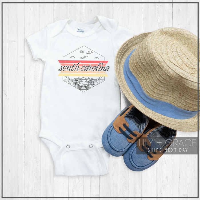 South Carolina Onesie® | Baby Travel Apparel | Kid's Boutique