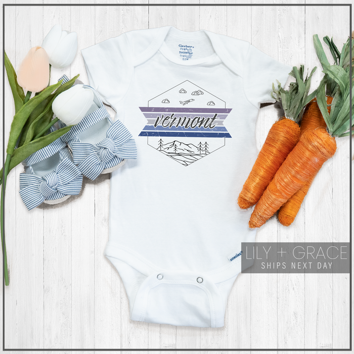 Vermont Onesie® | Kid's Travel Apparel | Baby Boutique