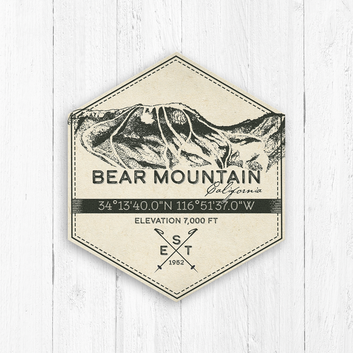 Bear Mountain Ski Resort Hexagon Badge