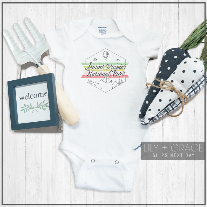 Mount Rainier National Park Onesie® | Baby Bodysuit | Kid's Boutique