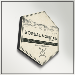 Boreal Mountain Ski Resort Hexagon Badge