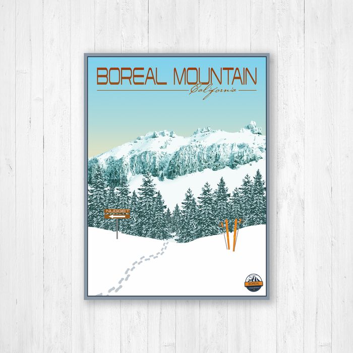 Boreal Mountain Modern Illustration Print by Printed Marketplace