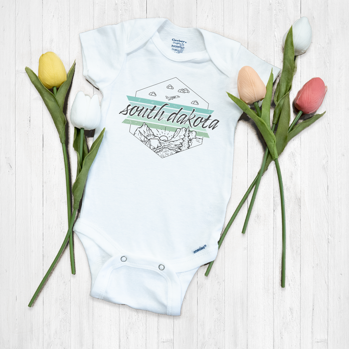 South Dakota Onesie® | Baby Bodysuit | Youth Boutique