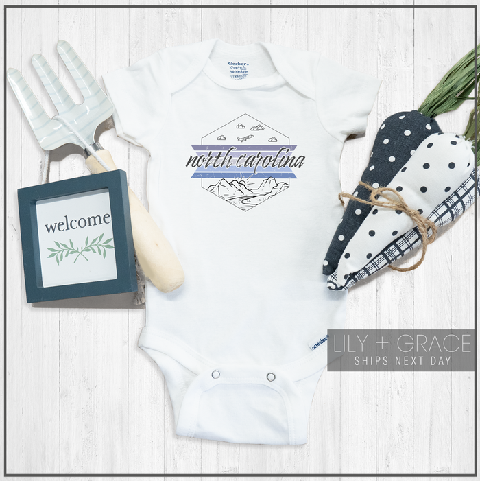 North Carolina Onesie® | Baby Bodysuit | Toddler Apparel