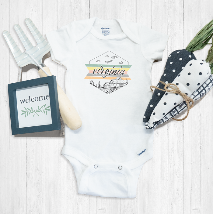 Virginia Onesie® | Youth Boutique | Baby Travel Apparel