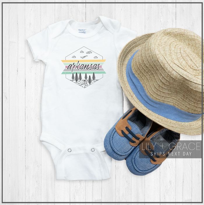 Arkansas Onesie® | Travel Youth Boutique | Baby Apparel