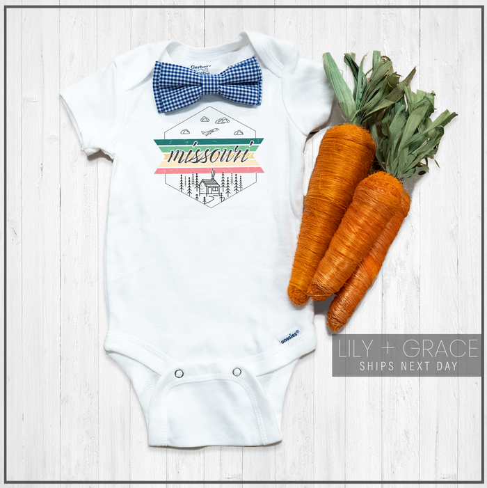 Missouri Onesie® | Youth Boutique | Baby Travel Clothing