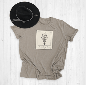 Make Today Happy Floral Polaroid Graphic Tee Shirt or Hoodie by Lily and Grace Adults
