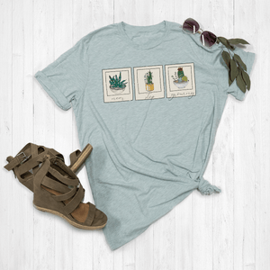 Never Stop Growing Floral Polaroid Graphic Tee Shirt or Hoodie by Lily and Grace Adults