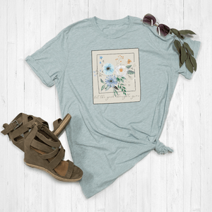Let The Good Thoughts Grow Floral Polaroid Graphic Tee Shirt or Hoodie by Lily and Grace Adults