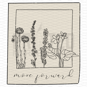 Move Forward Floral Polaroid Graphic Tee Shirt or Hoodie by Lily and Grace Adults