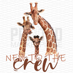 New To The Crew Birth Announcement Onesie®
