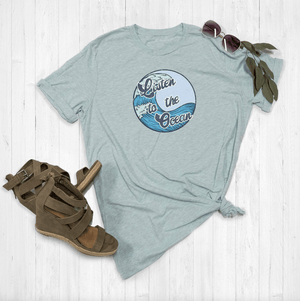 Listen To The Ocean Retro Summer Tee Shirt By Printed Marketplace