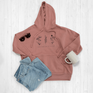 Customizable Floral Quote Hoodie By Printed Marketplace