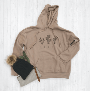 Texas State Floral Hoodie By Printed Marketplace