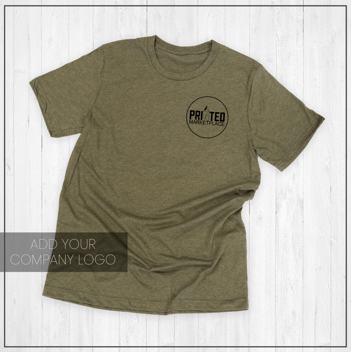 Customizable Logo Graphic Tee Shirt by Printed Marketplace