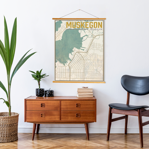 Muskegon Michigan Nautical City Map By Printed Marketplace