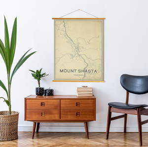 Mount Shasta California Street Map Print