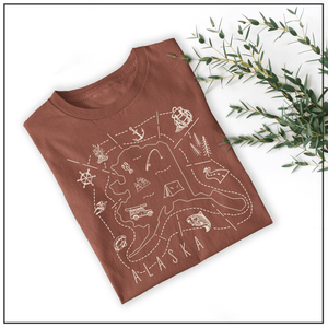 Illustrated Alaska Shirt By Printed Marketplace