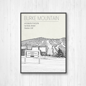 Burke Mountain Ski Resort Hanging Canvas