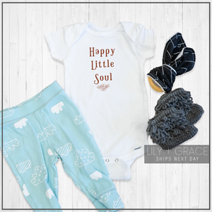 Happy Little Soul Onesie® | Bohemian Bodysuit | Lily and Grace Kids Apparel