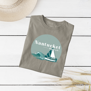Nantucket Massachusetts Tee Shirt or Hoodie by Printed Marketplace