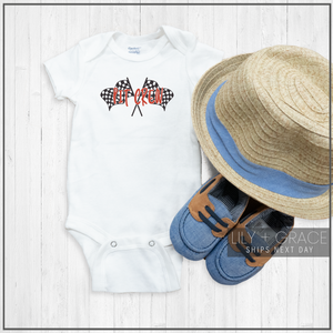 Pit Crew Onesie® | Newborn Race Car Apparel | Racing Onesies®