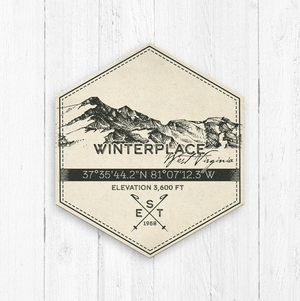 Winterplace Ski Area Hexagon Badge