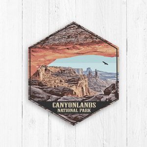 Canyonlands National Park Hexagon Illustration