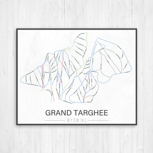 Grand Targhee Wyoming Ski Run Trail Map