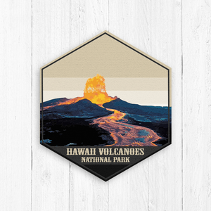 Hawaii Volcanoes National Park Hexagon Canvas