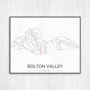 Bolton Valley Vermont Ski Trail Map by Printed Marketplace