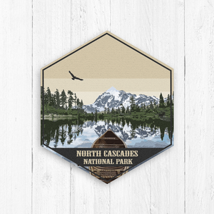 North Cascades National Park Hexagon Canvas